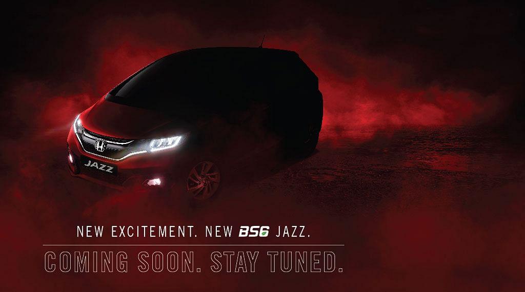 Honda India teases BS6 Jazz