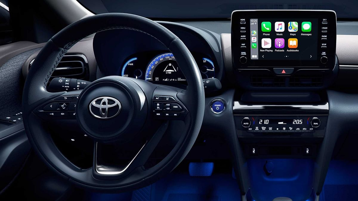 Toyota Yaris Cross gets  some add elements like the new steering wheel and gets Apple CarPlay and Android Auto connectivity