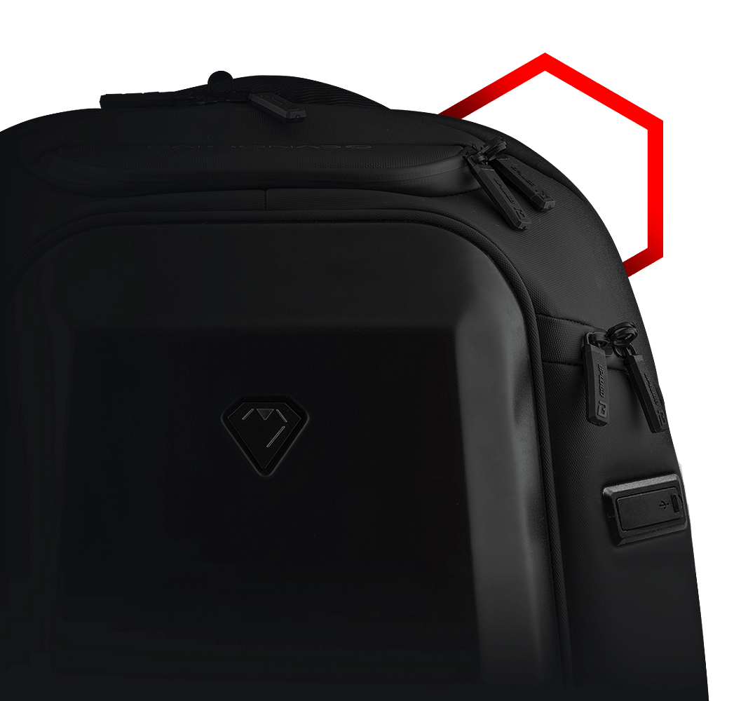 The all-weather proof qualities do come in handy and the waterproof zippers and the hard case top pocket has kept the contents of the backpack dry.