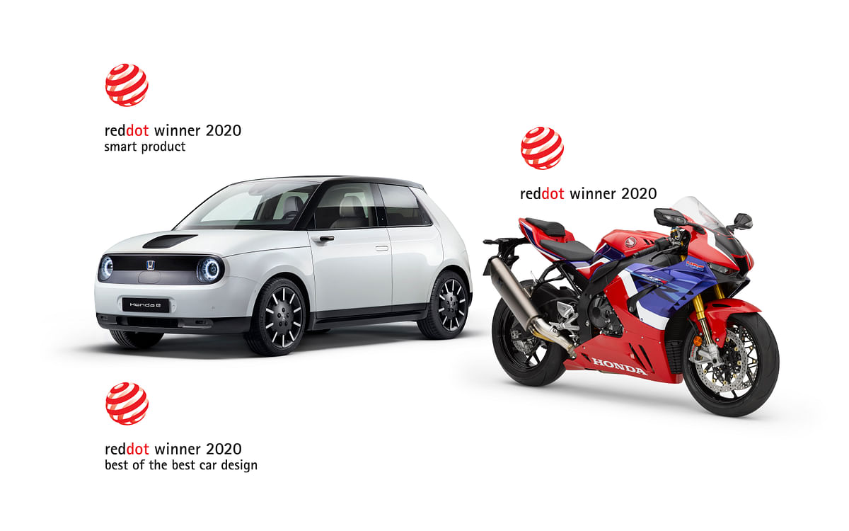 Honda wins three Red Dot Design Awards, including 'Best of the Best' for the Honda e