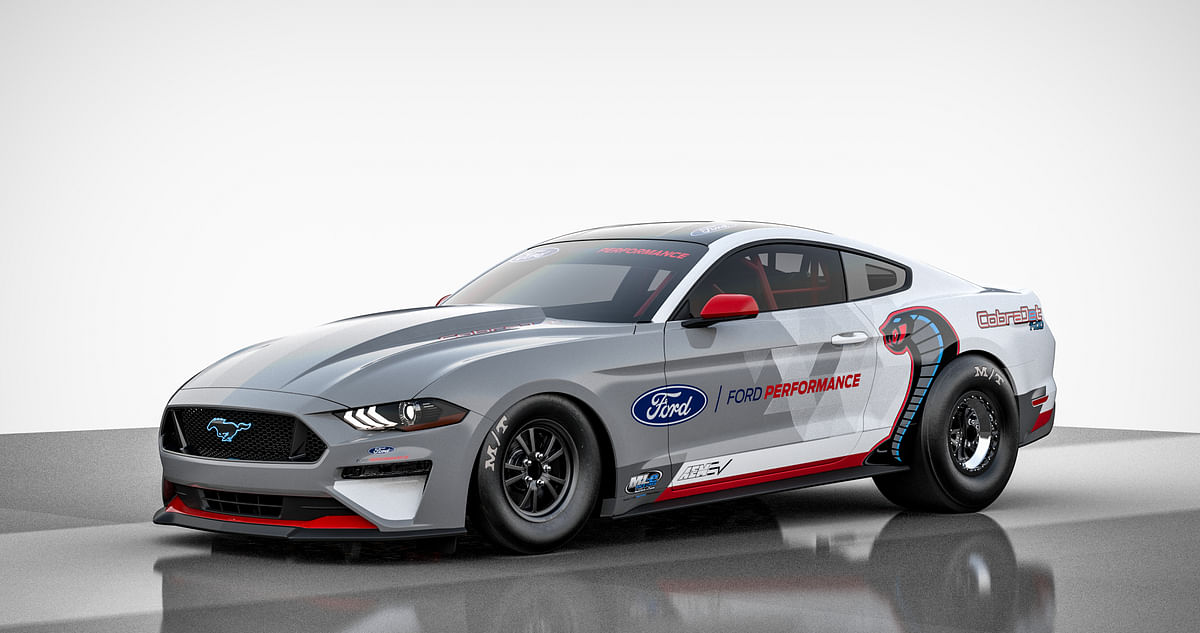 The Ford Mustang Cobra Jet 1400 is powered by electric motors