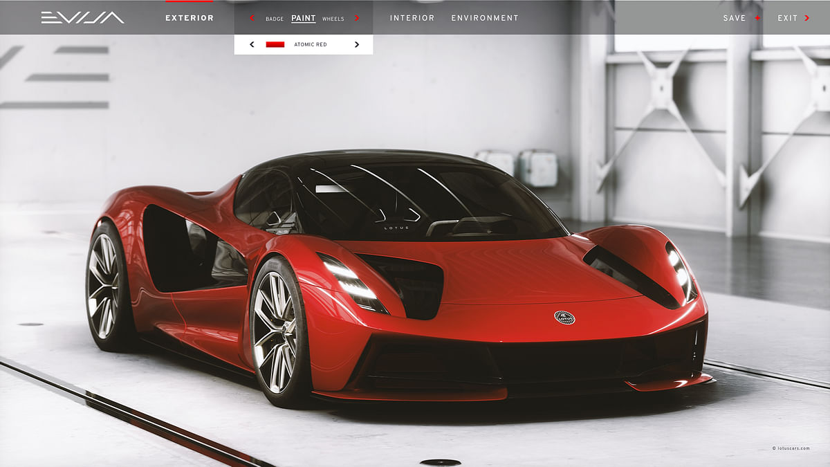 Preview of the front quarters in the configurator