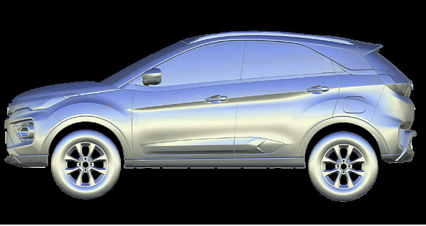 CAS Model of Tata Nexon, viewed left profile
