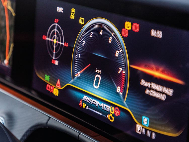 The two 12.3-inch displays make up the instrument cluster and infotainment system