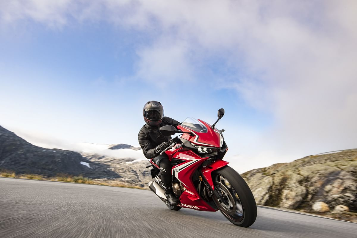 The CBR500R is exactly same as the CB500F with the exception of clip-on handlebars and a full-fairing.