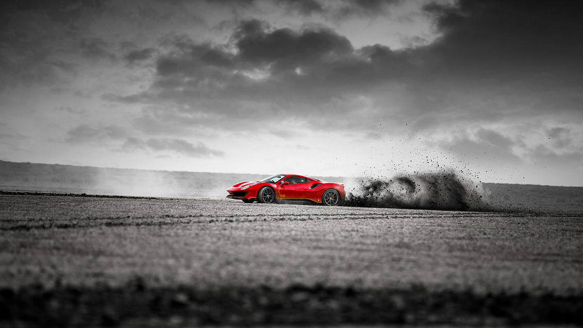 Image Gallery | Ferrari 488 Pista in the Rann of Kutch