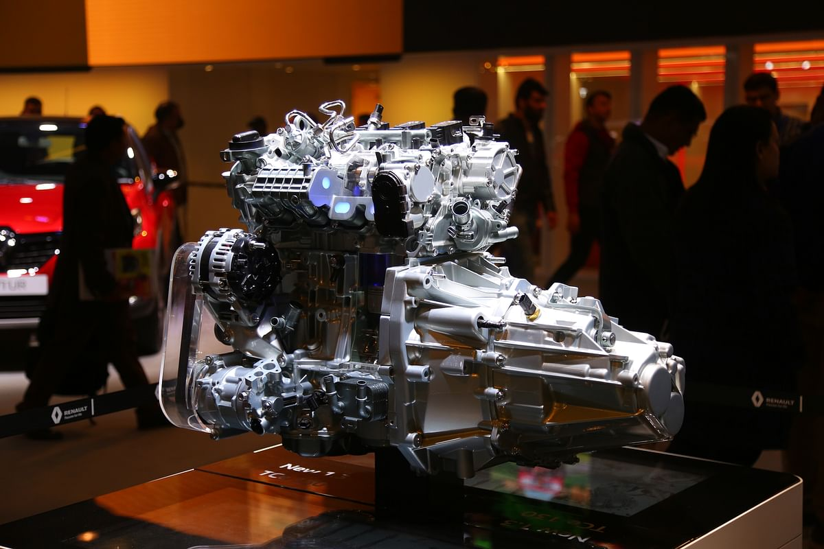 The 1.3 TCe engine was shown at the Auto Expo 2020