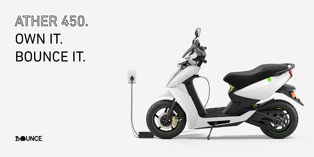 Ather Energy and Bounce announce scooter sharing program