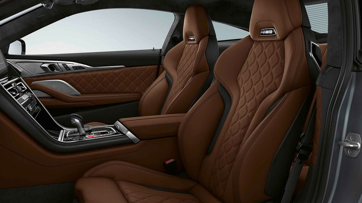 The M8 gets swathes of Merino leather in the cabin.