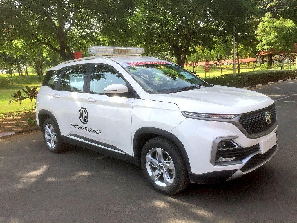MG Motor India converts its Hector into an ambulance