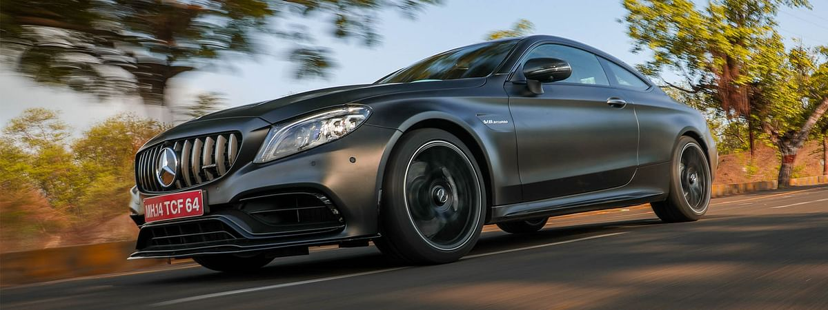The Mercedes-AMG C 63 Coupe makes its first-ever appearance in India