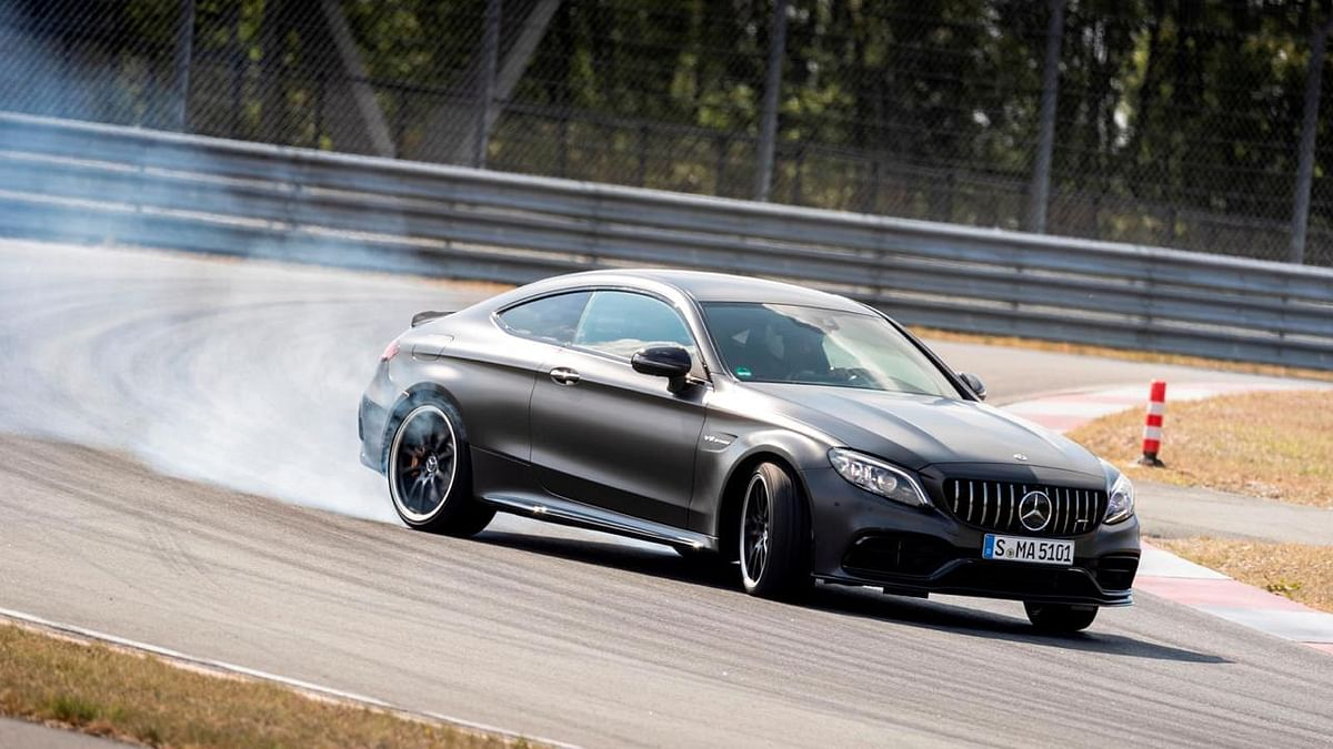 Sideways is the right way with the Mercedes-AMG C 63