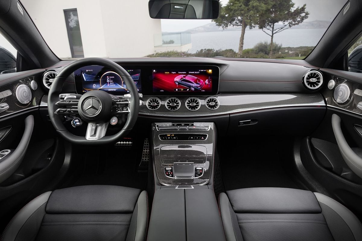 Mercedes-Benz' new haptic control steering wheel takes pride of place