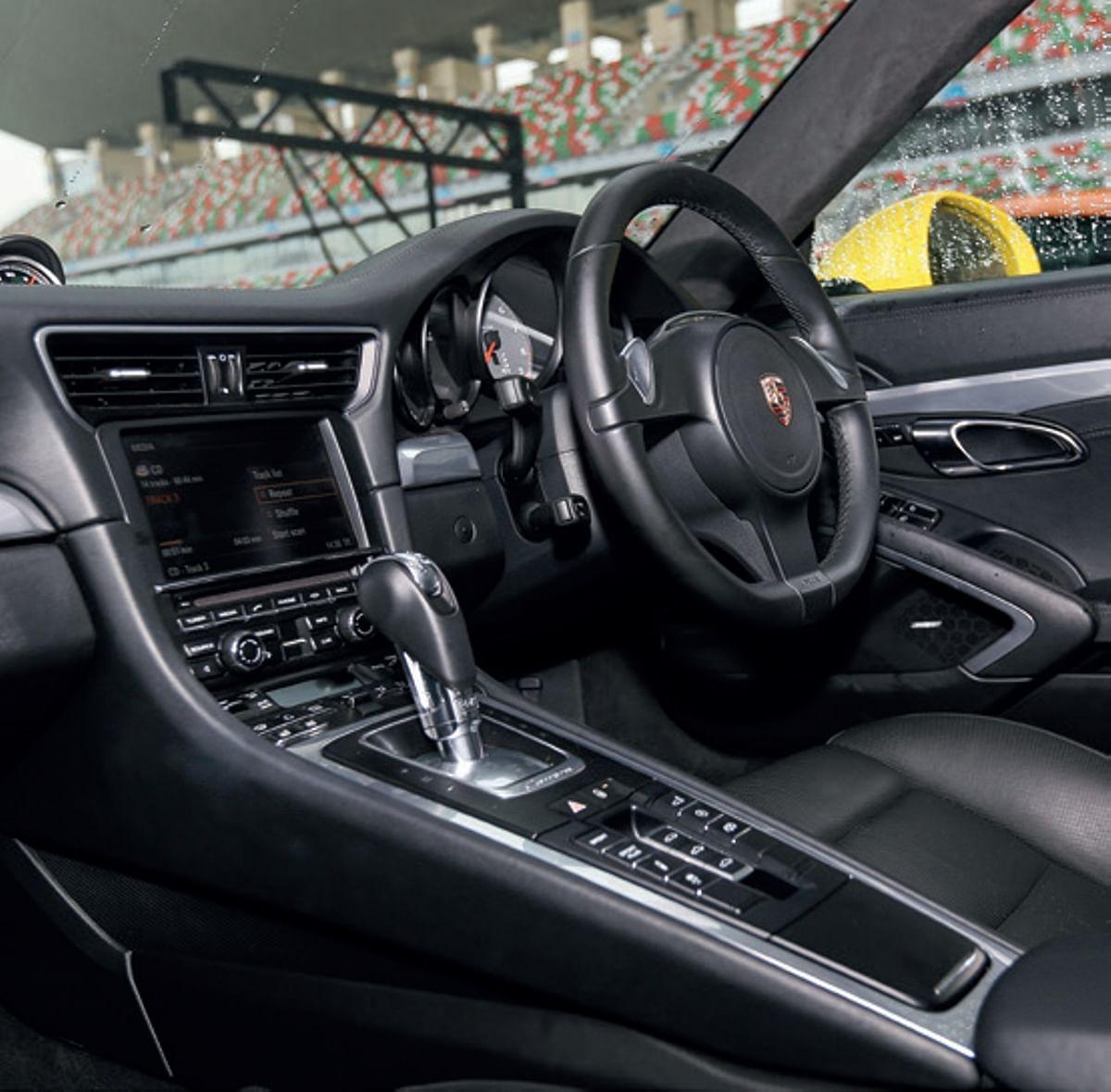 Cabin of the 991-generation Porsche 911