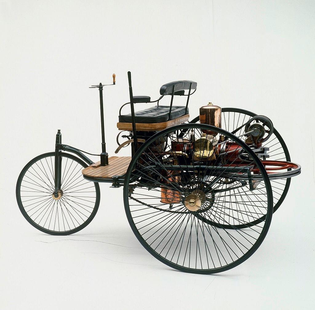 1886 Karl Benz Patentwagen with steering arm