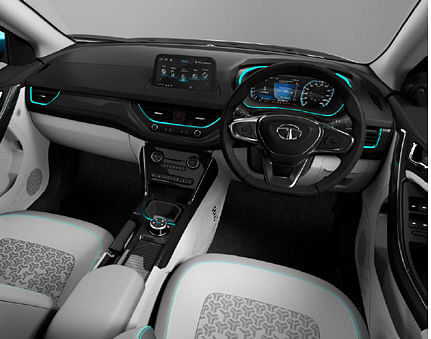 Digitised visual of interiors of Tata Nexon EV