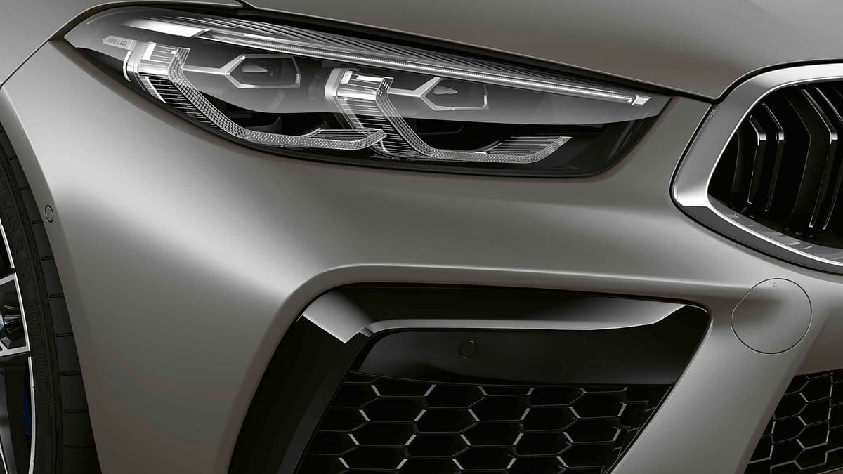 Distinctive exterior features on the M8 include a uniquely styled bumper.
