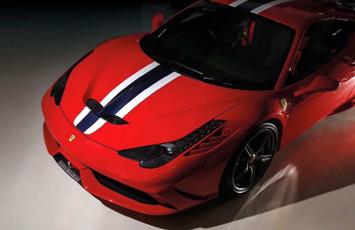 The 458 Speciale in the same spec as Boopesh saw it at the Frankfurt motor show