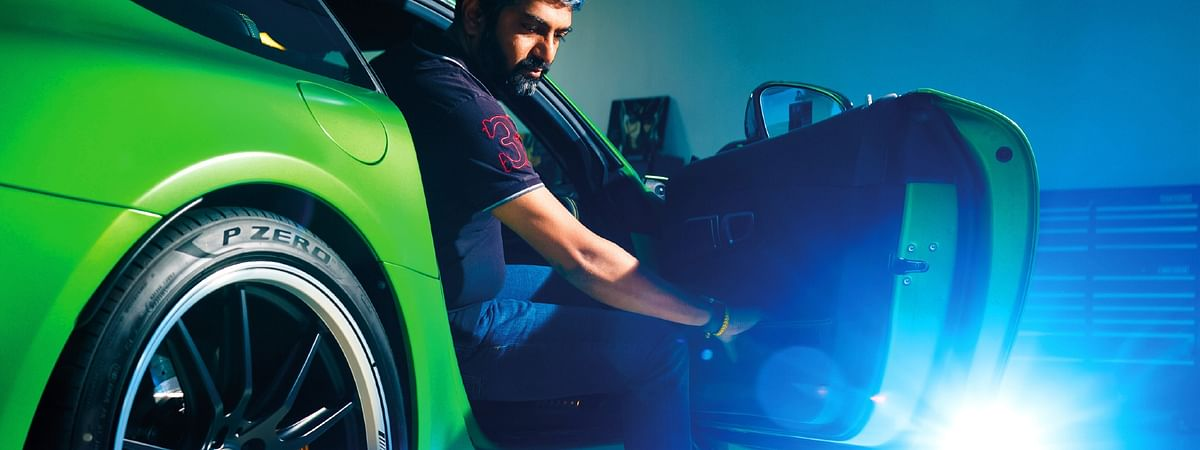 Boopesh Reddy with the AMG GT R