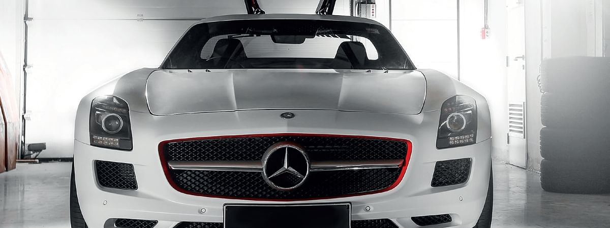 With the doors open, the SLS AMG looks like it's about to take flight