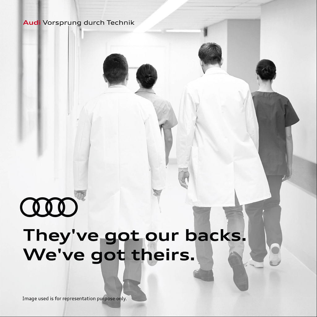 Audi has announced it will offer complimentary disinfection as well as a general service and checkups for frontline medical workers