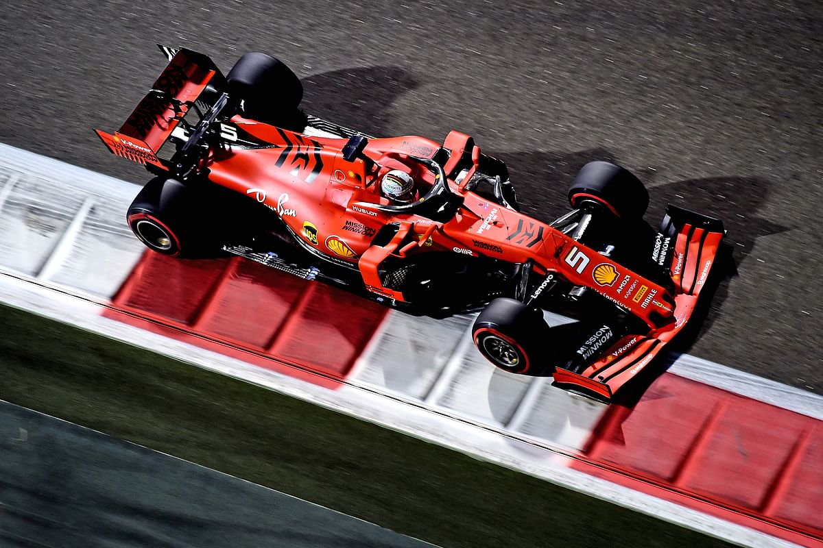 Sebastian Vettel's Ferrari SF90 at the 2019 Abu Dhabi Grand Prix