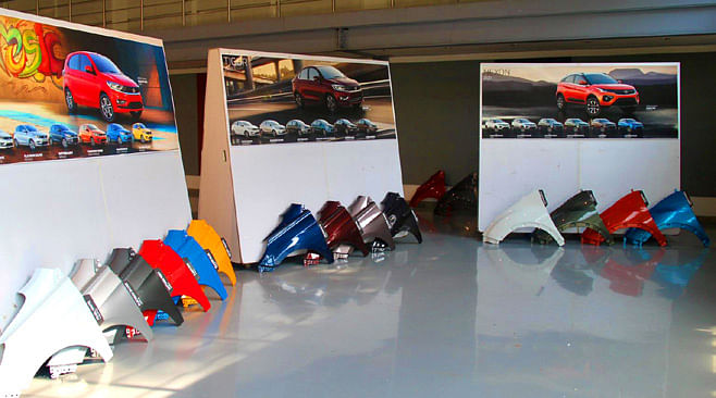 Body panels of various colours available for Tata Tiago, Tigor and Altroz