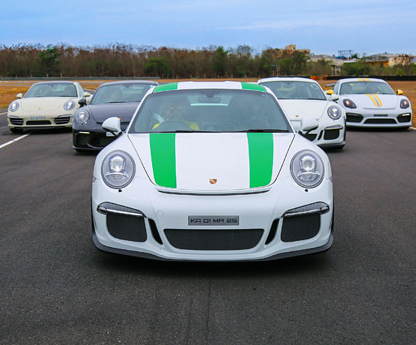 The first and only Porsche 911 R in India at the MMRT