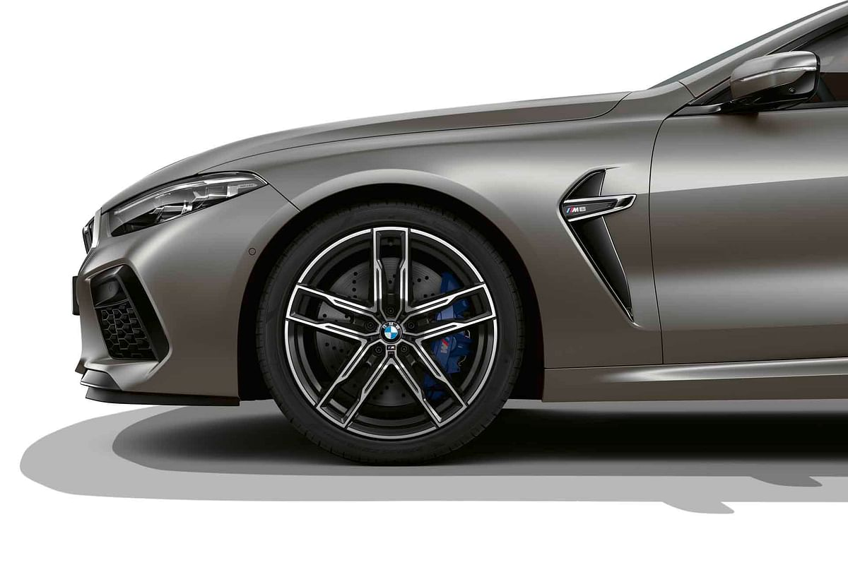 The M8 also gets 20-inch M-Sport wheels