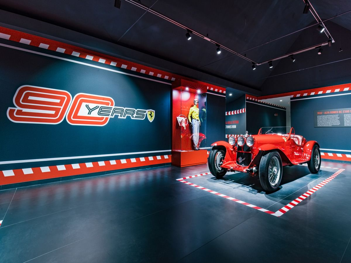 90 years- Scuderia Ferrari exhibition showcased the iconic teams history in motorsport.