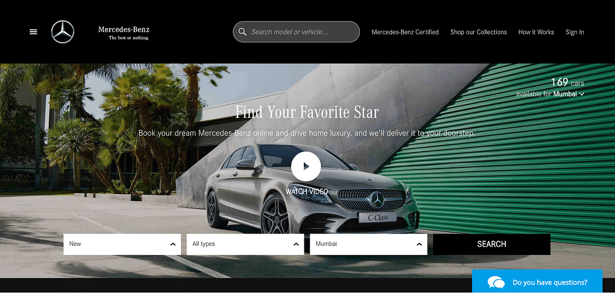 The process of buying a Mercedes-Benz online is fairly simple