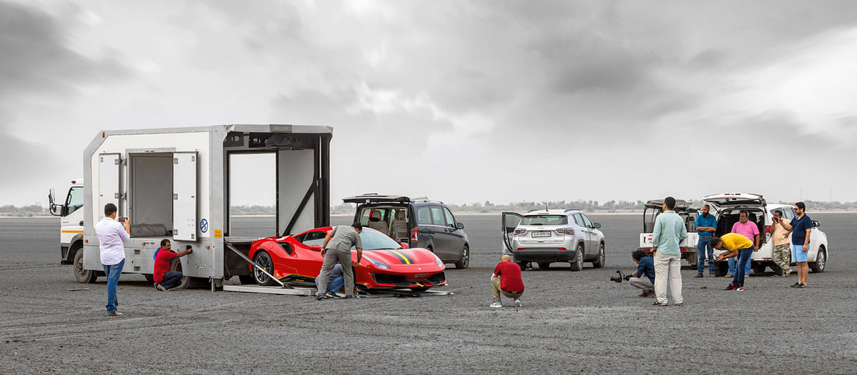 Our epic story taking the 488 Pista to the Rann of Kutch is the only time you will see a collector's edition Ferrari letting rip on a salt flat