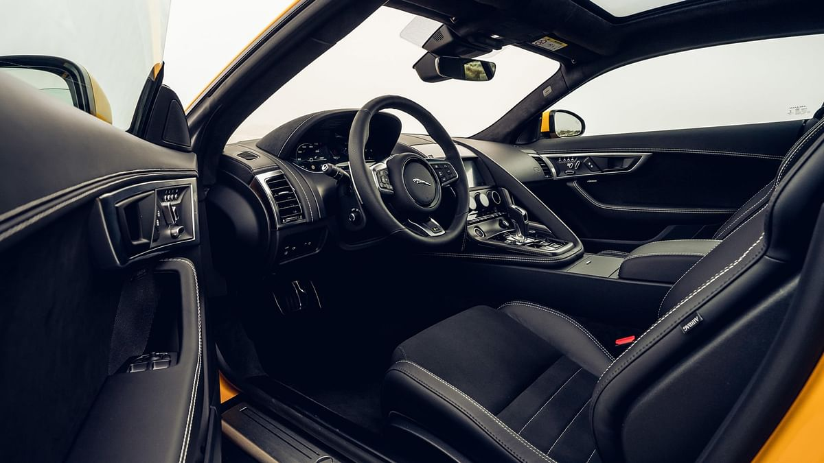 Jaguar never disappoints with interior trims. There are ample luxury and sporty elements all around.
