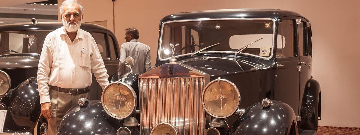 Nitin Dossa with his 1939 Rolls Royce Wraith