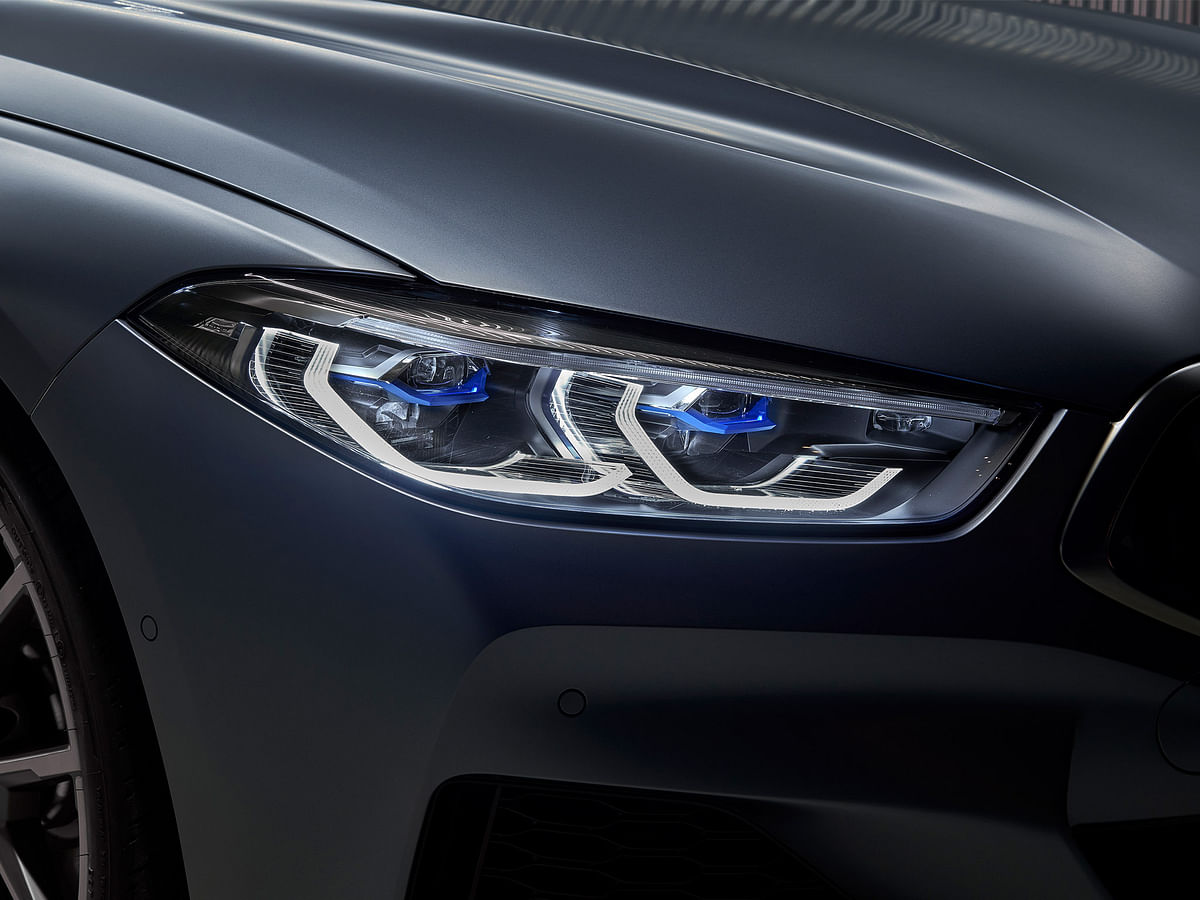 The headlamps on the 8 Series are the slimmest on any BMW
