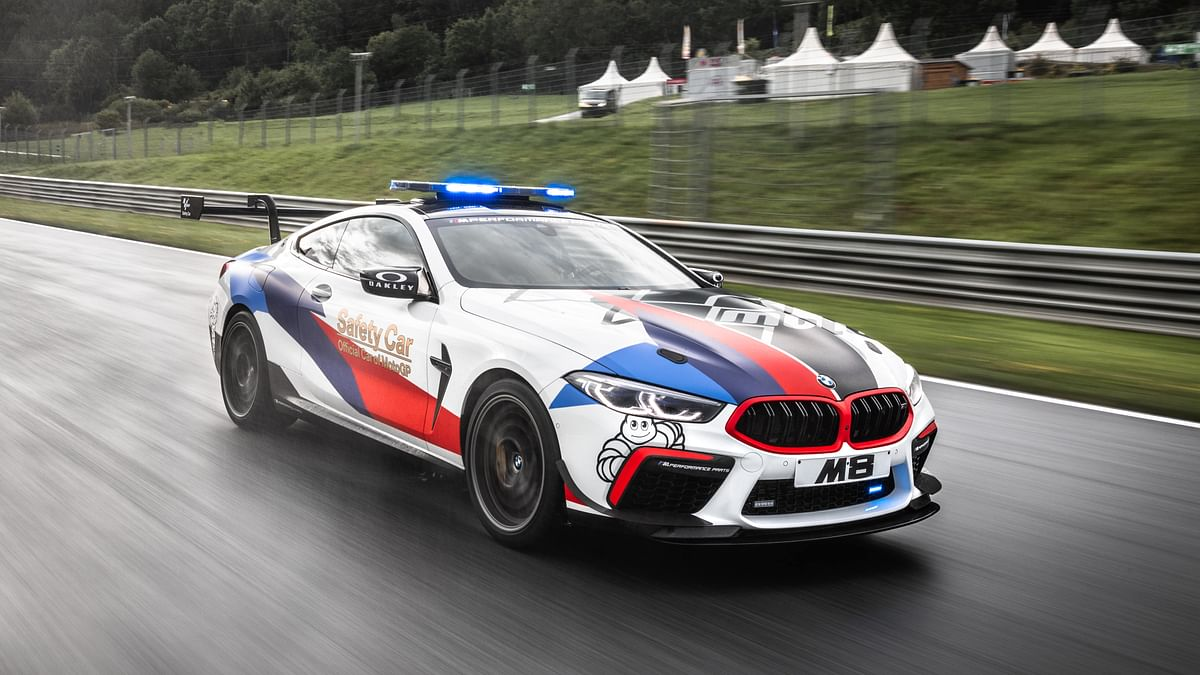 The BMW M8 is the official safety car of the Moto GP