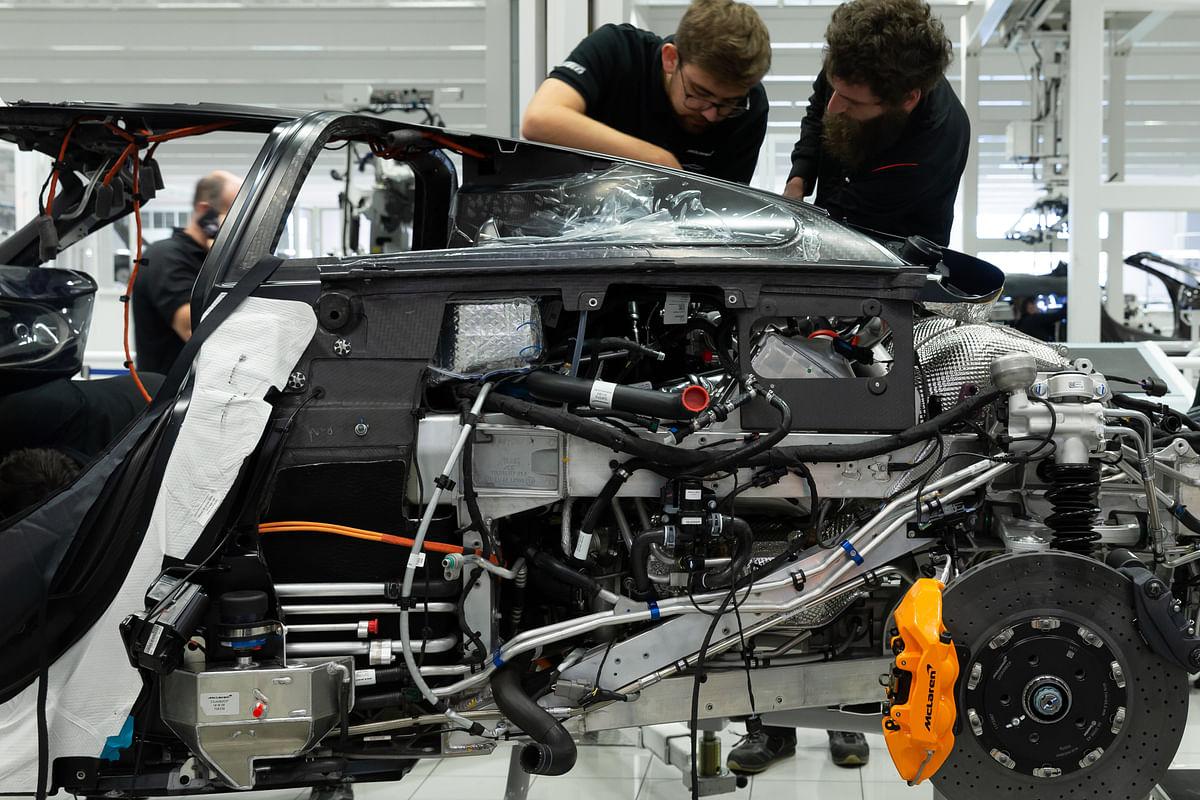 McLaren Speedtail engine and transmission