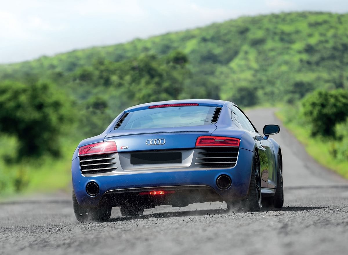 Probably the only view of the R8 most people ever saw