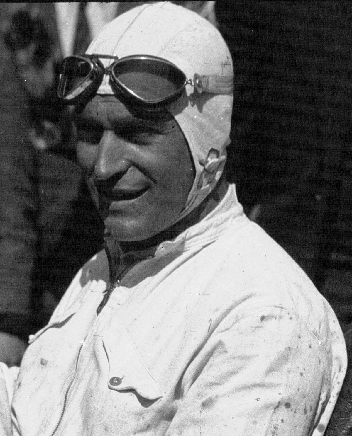 Luigi Fagioli in his Maserati at the 1932 Targa Florio