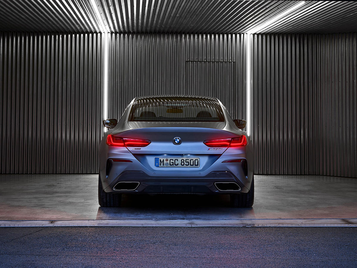 The rear track of the BMW 8 Series GC is the widest of any BMW on sale today