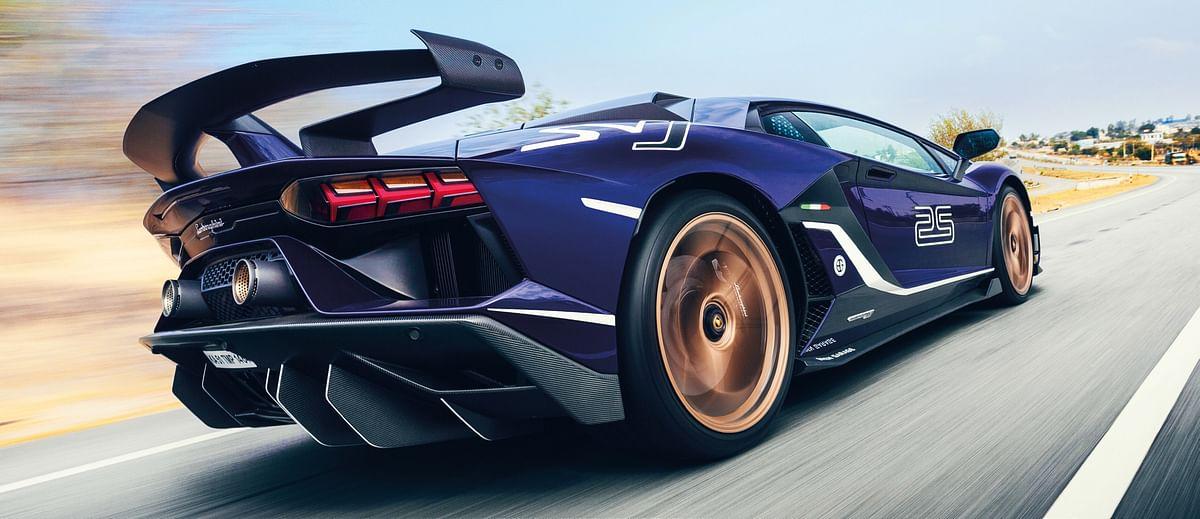 The first Lamborghini Aventador SVJ delivered in India