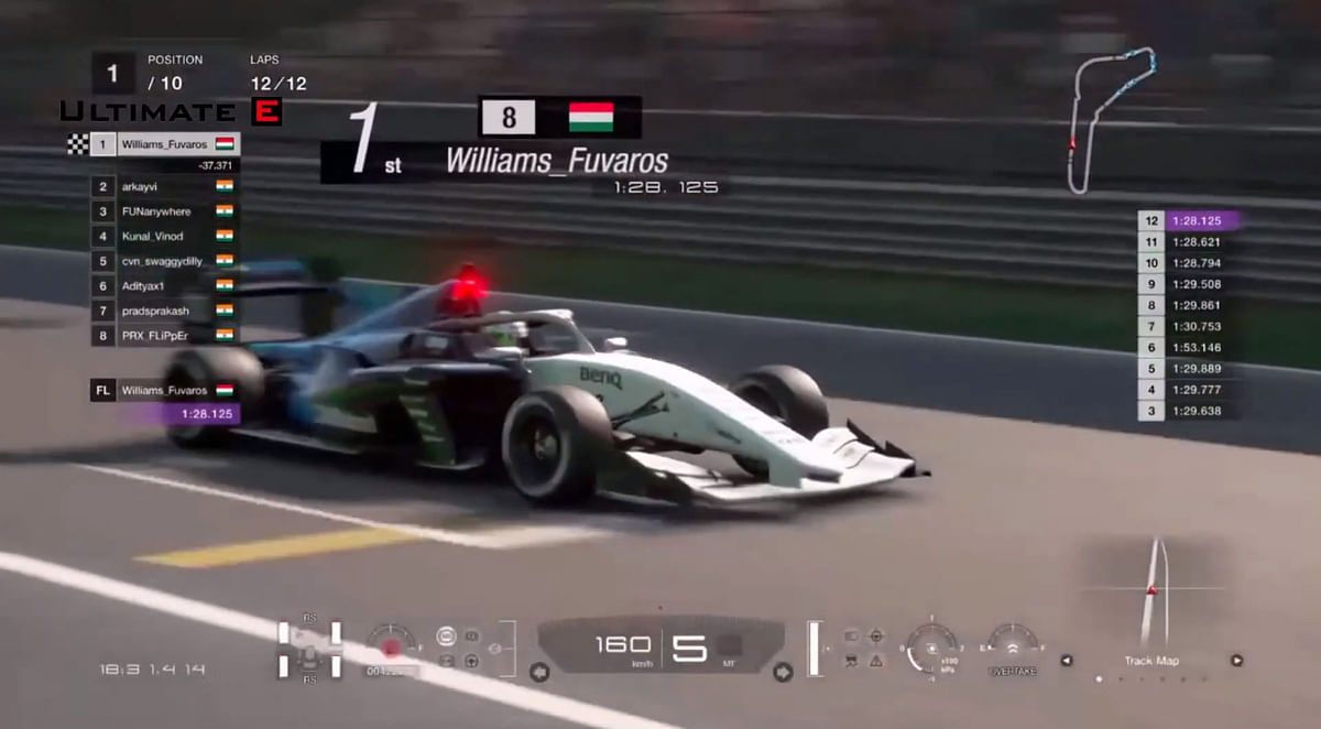 Patrik Blazsan wins race 2 of the Ultimate E Battle of the Cities Superformula race