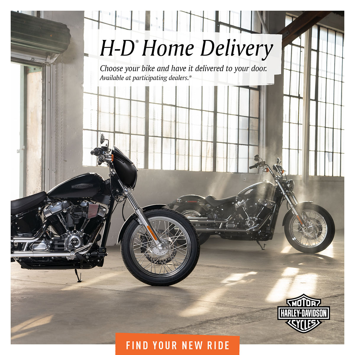 Harley-Davidson has begun a home delivery programme, where they can begin the buying process online.