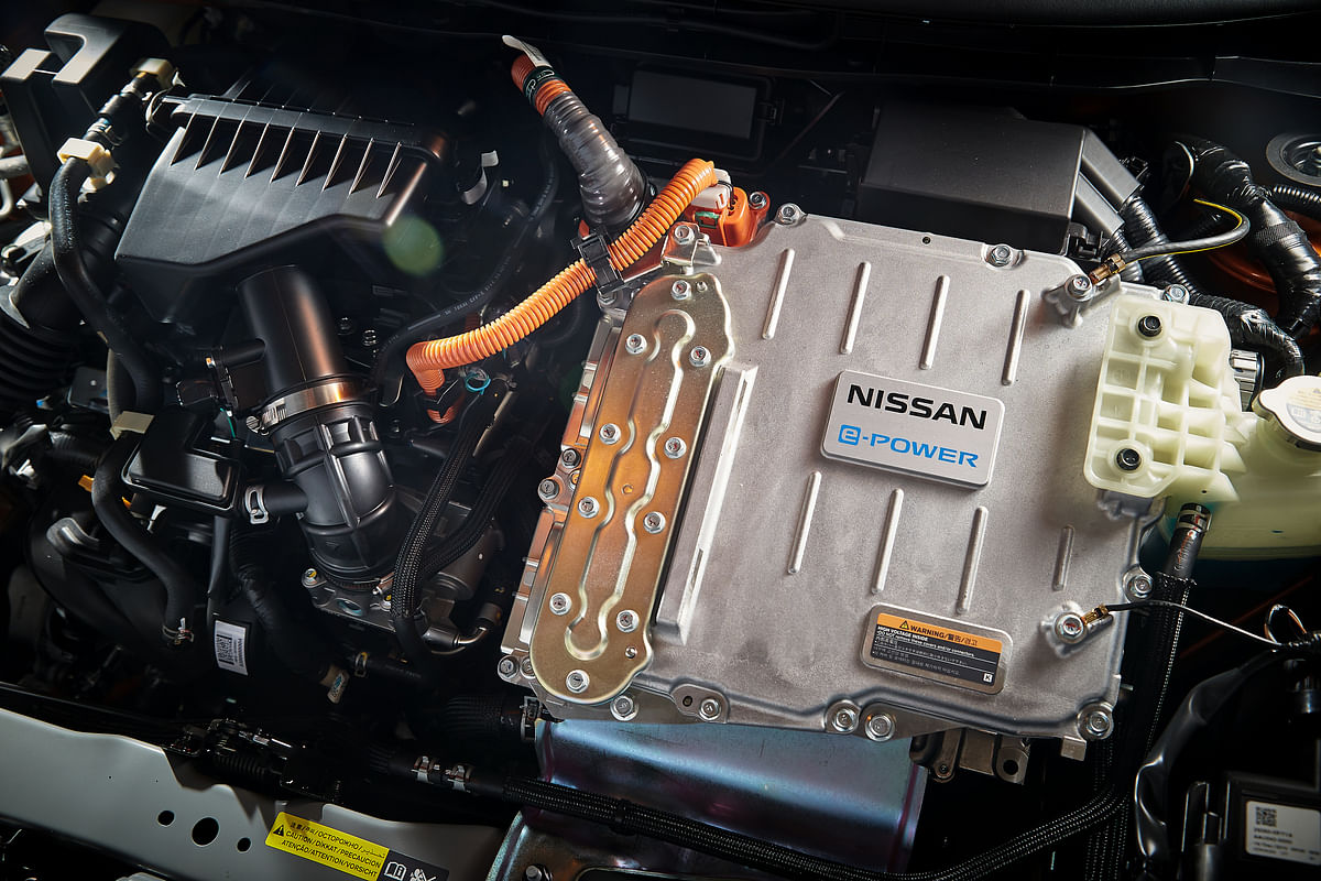 No need to plug-in! A petrol engine does all the recharging