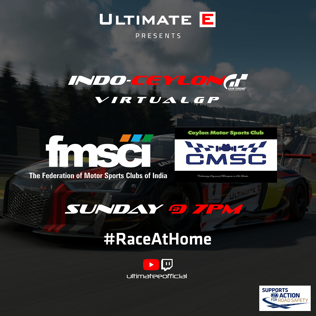 Ultimate E Joins hands with FMSCI and CMSC for the Indo-Ceylon Virtual GP