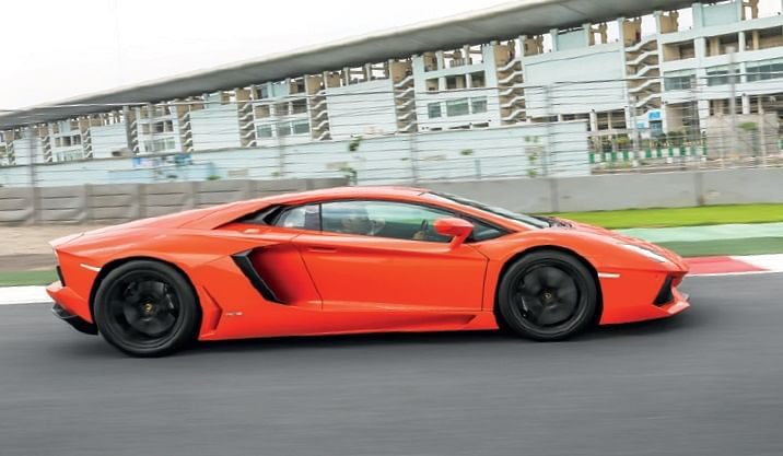 Aventador has the most outrageous shape in the automotive universe, inspired by the F-22 Raptor and B-2 stealth bomber
