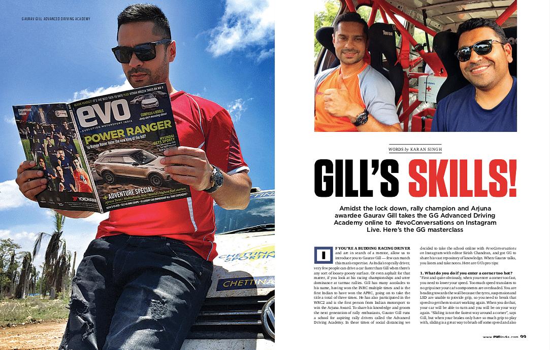 Gaurav Gill gives a driving masterclass