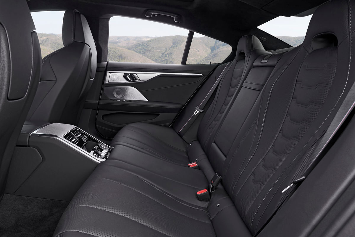 Blacked out cabin and luxurious rear seats