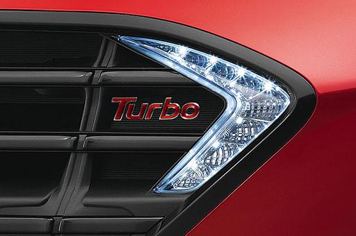 Hyundai Aura Turbo badge