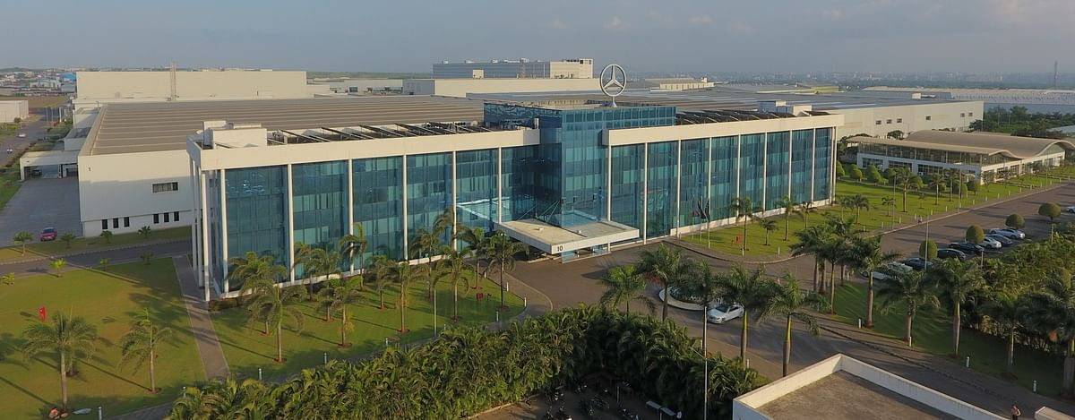 Mercedes-Benz India plant in Chakan on the outskirts of Pune